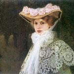 Portret zony artysty-Okun, Edward 1872-1945