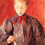 Dziewczynka gaszaca swiece-Wyspianski, Stanislaw  1869-1907