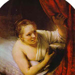 Rembrandt - Hendrickje in Bed