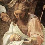 Raffaello - Stanze Vaticane - La Disputa (detail) [07]