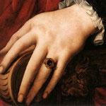 Portrait of Lucrezia Panciatichi, c. 1540, Detail