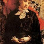 Portret Stefanii Fedorowiczowej na otomanie-Pruszkowski, Witold  1846-1896