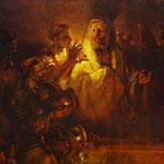 Rembrandt - Peter Denying Christ