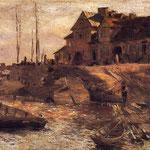 Przystan na Solcu (szkic)Gierymski, Aleksander 1850-1901