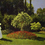 Woman in the Garden (Saint-Adresse).
