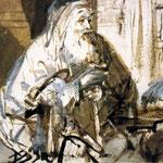 1663homere Dictant A Un Scribe,stockholm