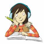 Lesende Schülerin, Klett Verlag