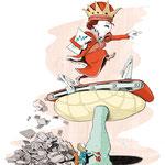 """Die rote Königin für """"Adlershof-Magazin"""""""
