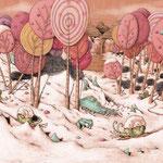 """Zuckerzeit aus """"Professor Murkes streng geheimes Lexikon der ausgestorbenen Tiere, die es nie gab"""", Tulipan Verlag, Texte von Andrea Schomburg"""