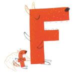 """Das """"F"""" aus """"Wilde Typen"""", Tulipan Verlag, 2016, Texte von Andrea Schomburg"""