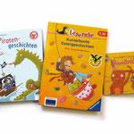 Piratengeschichten, Arena Verlag  - Ostergeschichten, Ravensburger Verlag  - Häsalotta, Coppenrath Verlag