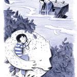 """Lisas Traum aus """"Lisa und das Fluff"""", Tulipan Verlag, 2017, Texte von Andrea Schomburg"""