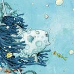 """""""Der Mondfisch in der Waschanlage"""", Tulipan Verlag, 2015, Texte von Andrea Schomburg"""