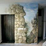Raummalerei m. Plastik