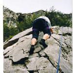 Utes erste Klettermeter: Passo San Giovanni