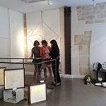 パリデザインウィーク2014に初出展したデザインを切り抜いた大判和紙