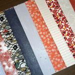 様々な紙色と柄が入った和紙をアソートのセットにしました
