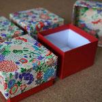 イタリアでの結婚式を彩る千代紙と色鳥の子紙を使った別注の貼り箱