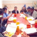 Obdachlose beim Essen