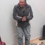 Der Vertreter der Obdachlosen dankt