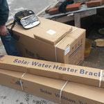 Solaranlage wird geliefert .......