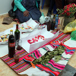 Alles ist bereit für das indigene Ritual