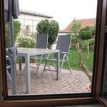 Terrasse von Wohnküche aus
