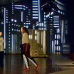 """""""Maß für Maß"""" im Gemeinschaftshaus der Gropiusstadt Berlin - Rolle Lucio (Foto: © Jens Rötzsch 2014), mit Viktoria Lewowsky, André Lewski"""