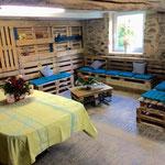 Votre espace détente/kitchenette dans l'ancienne étable