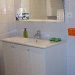 Salle de bains avec lavabo et douche à l'italienne