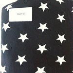 schwarz, weisse Sterne