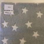 Kuschelfleece grau Sterne