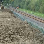 KBE Grün G: Bodeneinbau Füllboden im Frontbereich