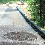 KBE Grün G: in der Bauzeit - Bodeneinbau vor Kopf