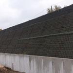 Lärmschutzwall in Wismar, System KBE Grün S