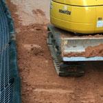 KBE Grün G: in der Bauzeit - Bodeneinbau und -verdichtung