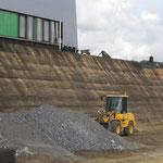 ähnlich KBE Grün S, Ansicht der Steilböschung während der Bauzeit 07/2017