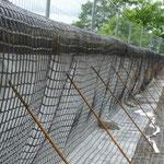 KBE Grün S: Stahlgitterwinkel mit Abspannhaken, Geogitter und Riesel-/Erosionsschutzvlies