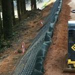 KBE Grün G: in der Bauzeit - Bodenverdichtung Front