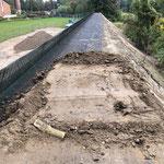 Lärmschutzwall in Wismar, Dammkrone, System KBE Grün S