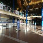 Noch ist der Flughafen leer