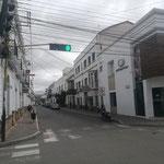 leere Straßen von Sucre