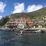 Blick auf den Hafen und Ort Yumani der Isla del Sol