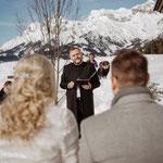 Winterhochzeit mit Freier Trauung in Österreich. marrylight Hochzeitsplanung