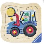 Traktor, Ravensburger Spieleverlag 5 Teile Holzpuzzle, 2014