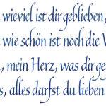frau jenson, Kalligrafie, aus der Sammlung 'Die Heimkehr', Heinrich Heine