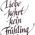 frau jenson, Kalligrafie, aus 'Phantasie, An Laura', Friedrich Schiller