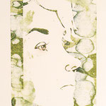 Anne 02, Holzschnitt, Öl auf Chinapapier