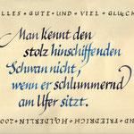 frau jenson, Kalligrafie, Friedrich Hölderlin