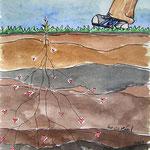 frau jenson, Illustration, Vorsicht kleine Pflanze